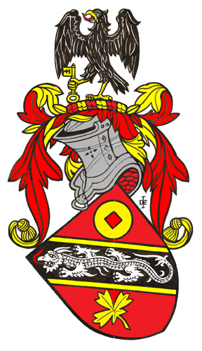 Derwin Mak coat of arms by Dennis E. Ivall